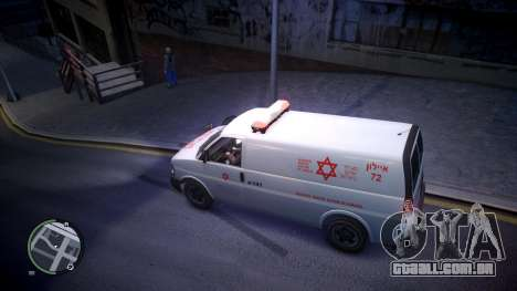 Israel MDA Ambulance para GTA 4 esquerda vista