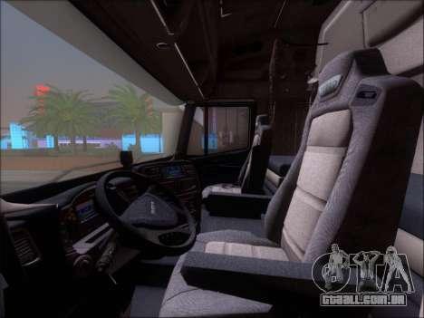 Iveco Stralis HiWay 560 E6 8x4 para GTA San Andreas interior