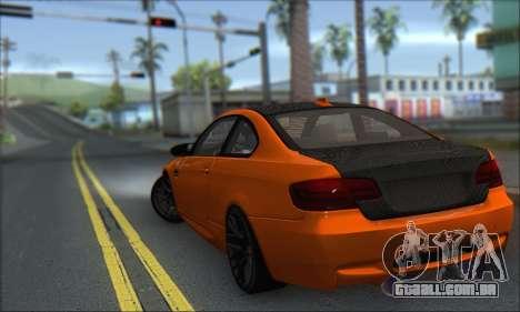BMW M3 E92 Soft Tuning para GTA San Andreas esquerda vista