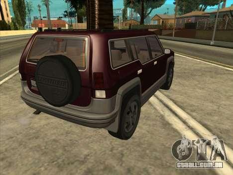 Landstalker from GTA 3 para GTA San Andreas esquerda vista