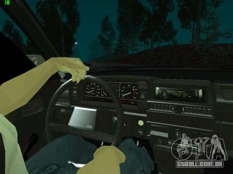 VAZ 21099 para vista lateral GTA San Andreas