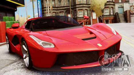 Ferrari LaFerrari Spider para GTA 4 traseira esquerda vista