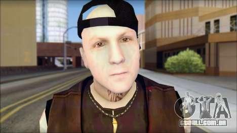 Benji from Good Charlotte para GTA San Andreas terceira tela
