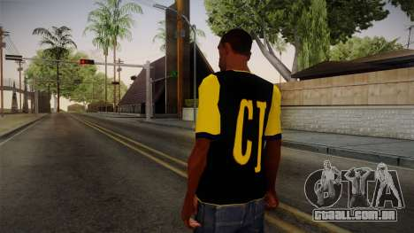 Black & Yellow T-Shirt para GTA San Andreas segunda tela