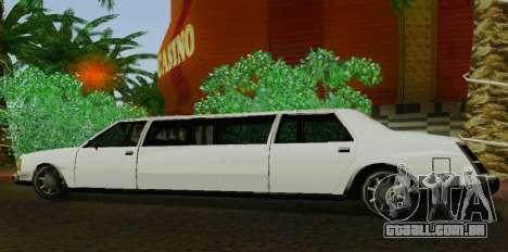 Washington Limousine para GTA San Andreas esquerda vista