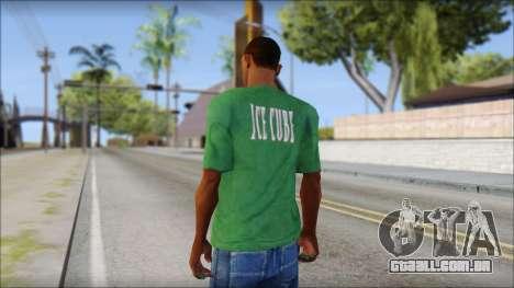 Ice Cube T-Shirt para GTA San Andreas segunda tela