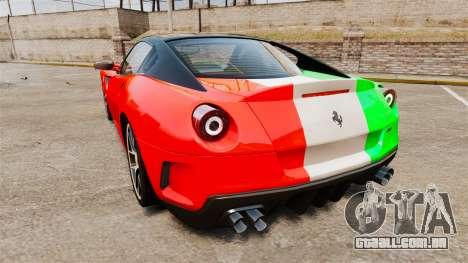 Ferrari 599 GTO PJ4 para GTA 4 traseira esquerda vista