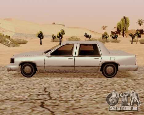 Trecho De Limousine para GTA San Andreas esquerda vista