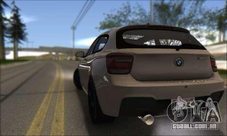 BMW M135i para GTA San Andreas traseira esquerda vista