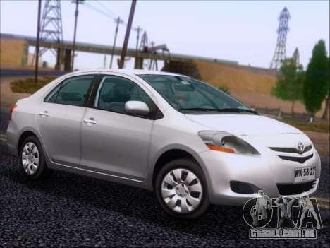 Toyota Yaris 2008 Sedan para vista lateral GTA San Andreas