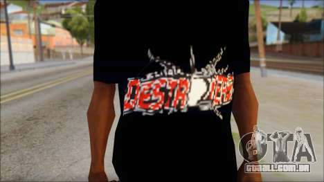 Destroyers T-Shirt Mod para GTA San Andreas terceira tela