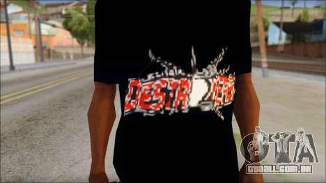 Destroyers T-Shirt Mod para GTA San Andreas terceira tela