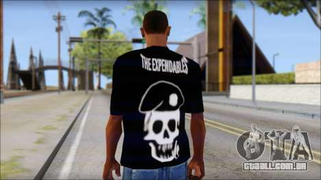 The Expendables Fan T-Shirt v1 para GTA San Andreas segunda tela