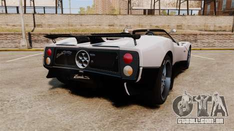 Pagani Zonda C12S Roadster 2001 v1.1 PJ2 para GTA 4 traseira esquerda vista
