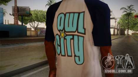 Owl City T-Shirt para GTA San Andreas terceira tela