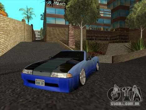 Elegy Cabrio HD para GTA San Andreas vista traseira