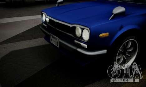 Nissan Skyline GC10 2000GT para GTA San Andreas vista inferior