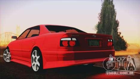 Toyota Chaser Tourer Stock V2.5 1999 para GTA San Andreas esquerda vista