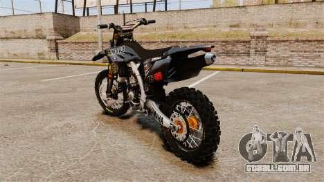 Yamaha YZF-450 v1.2 para GTA 4 traseira esquerda vista