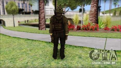 Roach Anderson in Dark Suit from MW2 para GTA San Andreas segunda tela