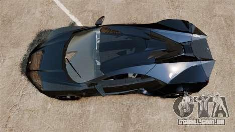 Lykan HyperSport Black para GTA 4 vista direita