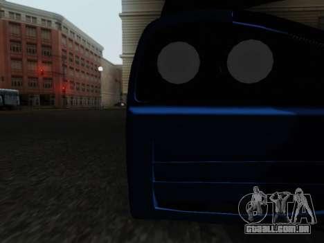 Honda NSX VeilSide para GTA San Andreas vista interior