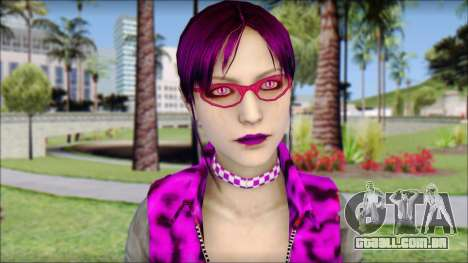 Rock Chicks Purple Ped para GTA San Andreas terceira tela