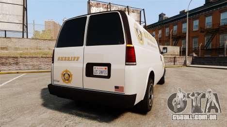 Vapid Speedo Los Santos County Sheriff [ELS] para GTA 4 traseira esquerda vista