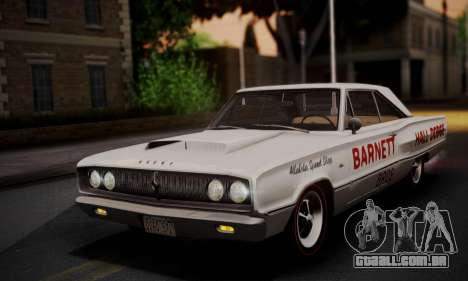 Dodge Coronet 440 Hardtop Coupe (WH23) 1967 para GTA San Andreas vista inferior