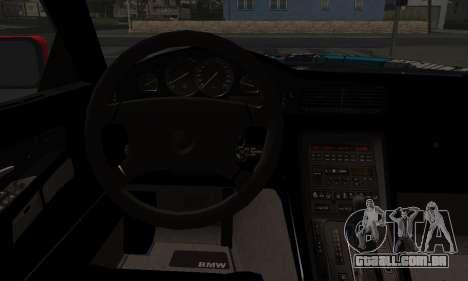 BMW M8 Custom para GTA San Andreas traseira esquerda vista
