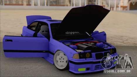 BMW M3 E36 Coupe Slammed para GTA San Andreas vista direita