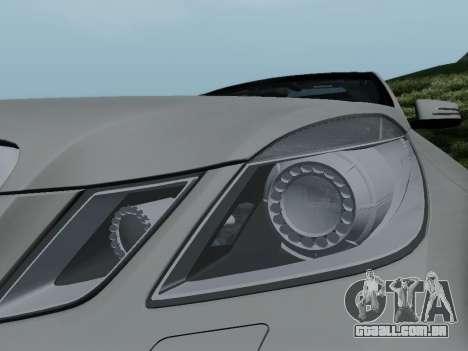 Mercedes-Benz E63 AMG para GTA San Andreas vista superior