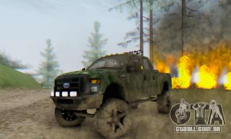 Ford F-250 Camo Lifted 2010 para GTA San Andreas