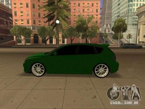 Mazda 3 para GTA San Andreas vista direita