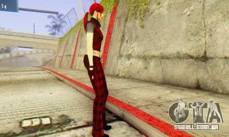 Red Girl Skin para GTA San Andreas segunda tela