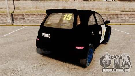 Opel Corsa Police para GTA 4 traseira esquerda vista