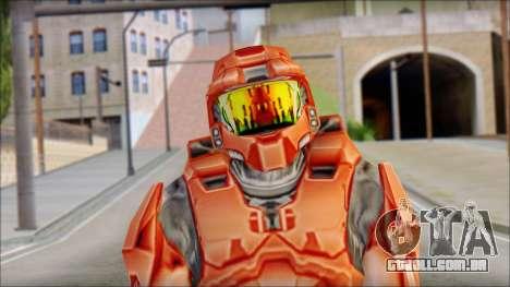 Masterchief Red from Halo para GTA San Andreas terceira tela