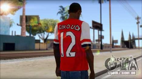 Arsenal FC Giroud T-Shirt para GTA San Andreas segunda tela