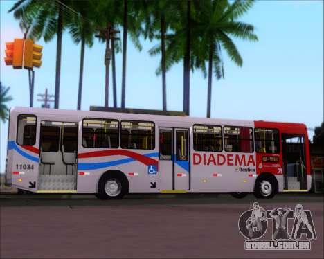 Comil Svelto 2008 Volksbus 17-2 Benfica Diadema para GTA San Andreas vista interior