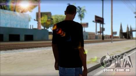 Skull T-Shirt Black para GTA San Andreas segunda tela