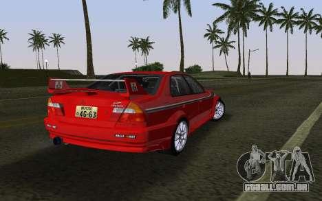 Mitsubishi Lancer Evolution 6 Tommy Makinen Edit para GTA Vice City deixou vista