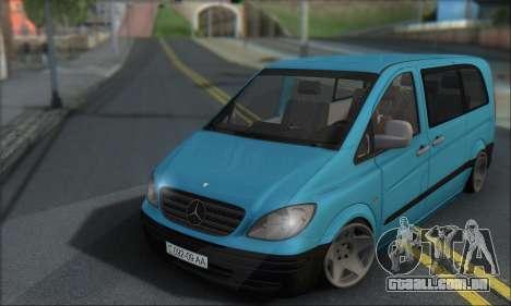 Mercedes-Benz 115 CDI Vito 2007 Stance para GTA San Andreas esquerda vista