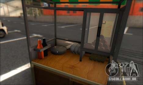 Gerobak Bakso para GTA San Andreas traseira esquerda vista