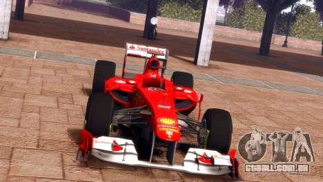 Ferrari 150 Italia para GTA 4 traseira esquerda vista