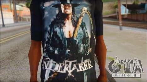 Undertaker T-Shirt v2 para GTA San Andreas terceira tela