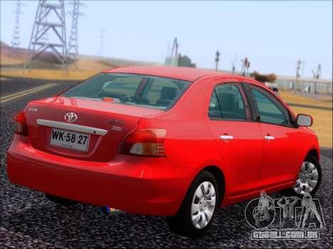 Toyota Yaris 2008 Sedan para GTA San Andreas vista interior