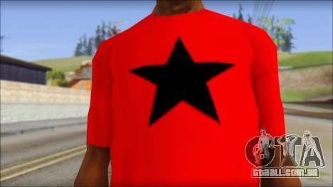 Vidick from Infected Rain Red T-Shirt para GTA San Andreas terceira tela
