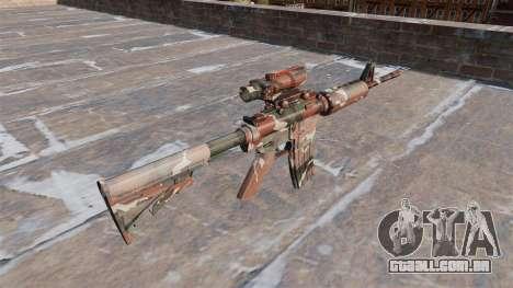 Automático carabina MA Floresta Camo para GTA 4 segundo screenshot