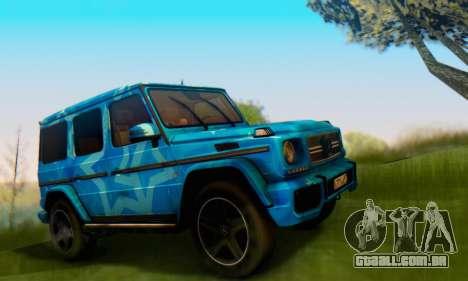 Mercedes-Benz G65 Blue Star para GTA San Andreas vista direita