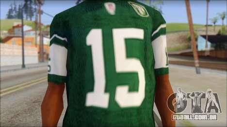 New York Jets 15 Tebow Green T-Shirt para GTA San Andreas terceira tela